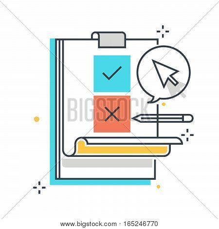 Color Line, Survey Illustration Concept Illustration, Icon