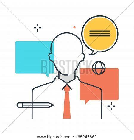 Color Box Icon, Consulting Concept Illustration