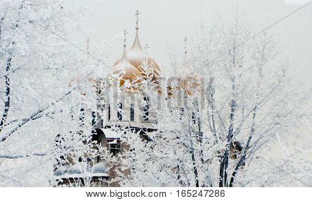 Церковь Матроны Московской в городском парке отды