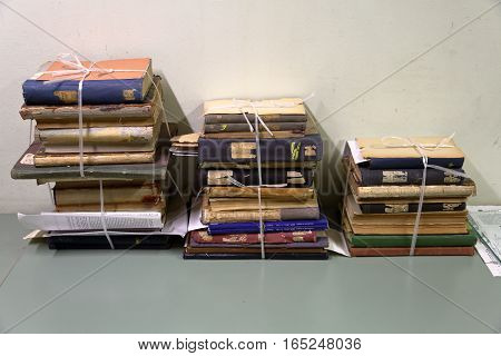 Stack Of Old Books