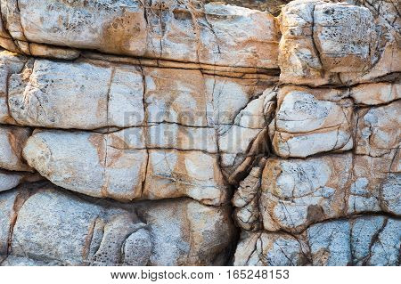 Natural sea stone texture and background rock texture