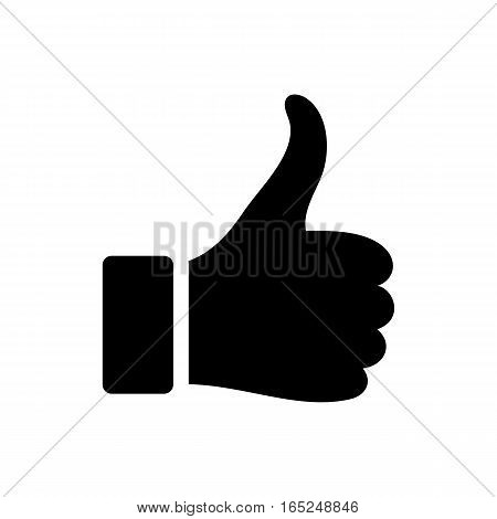 Black vector flat like icon isolated on white