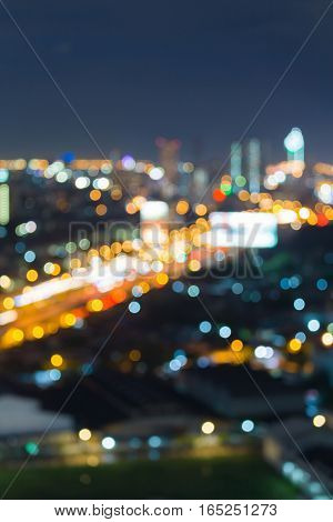 Blurred light city road night view abstract background