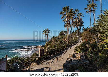 Heisler Park garden along the coast of Laguna Beach, California