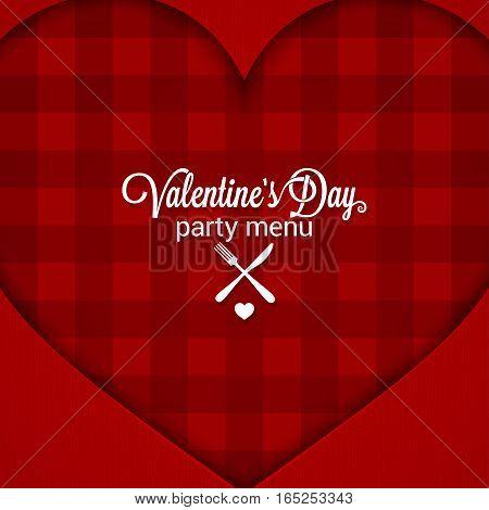 Valentines Day Dinner Party Menu Background. 10 eps