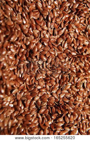 flax seeds - background, depth of field and realistic color