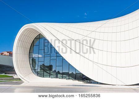 Heydar Aliyev Center Museum In Baku, Azerbaijan