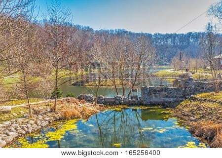 Lake view park.  This photo was taken in a park, near Kiev.