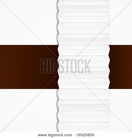 Abstract origami paper tape, background. poster