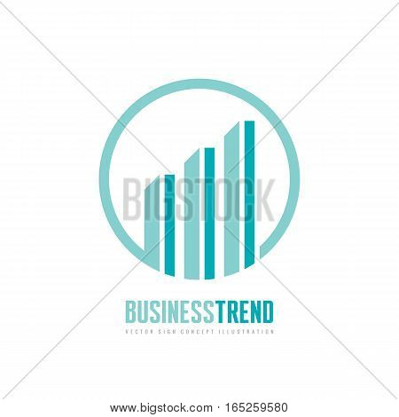 Business trend - vector logo concept illustration. Economic finance abstract growth graphic. Design element.