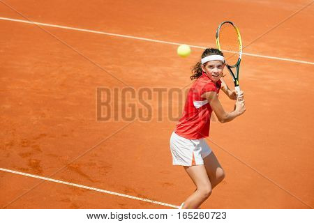 Tennis Backhand Stroke
