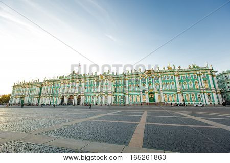 The State Hermitage Museum - one of the largest and most significant art and historical museums in Russia and the world September 14 2016 St. Petersburg Russia.