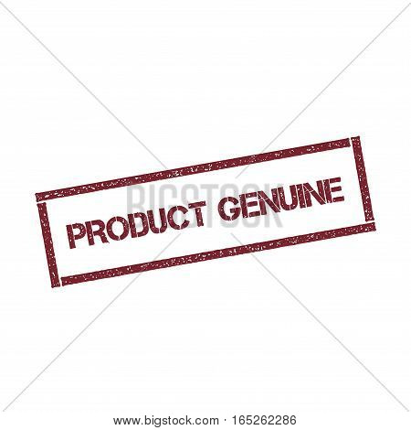 Product Genuine Rectangular Stamp. Textured Red Seal With Text Isolated On White Background, Vector