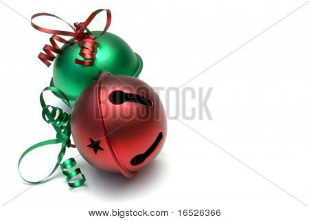 Large jingle bells, isolated on white