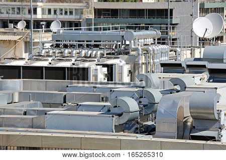 Heating Ventilation and Air Conditioning at Building Roof