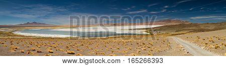 Panorama of the Salar de Tara Atacama Desert Chile