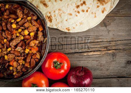 Traditional Mexican Dish  Chilli Con Carne