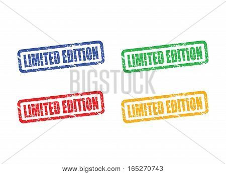 a colourful limited edition worn stamp set