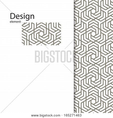 Traditional Arabic seamless ornament. Geometric pattern seamless for your design.  Geometric pattern for laser cutting, interior decoration, graphic design.