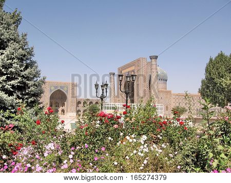 The historic architectural ensemble Registan in Samarkand Uzbekistan September 20 2007