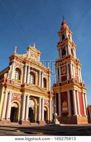 Church and belfry of Church Saint Francis in Salta (Argentina)