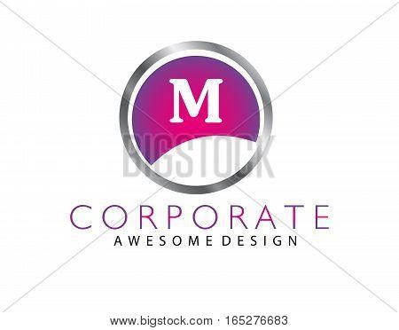Letter M Logo design isolated on white background