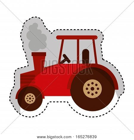 tractor farm vehicle icon vector illustration design