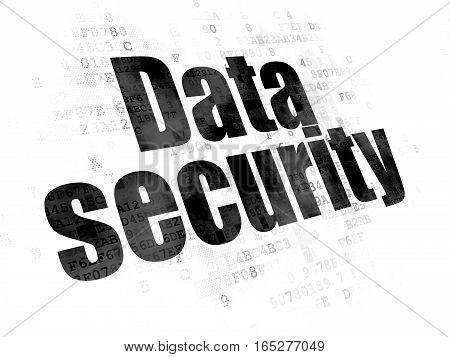 Privacy concept: Pixelated black text Data Security on Digital background