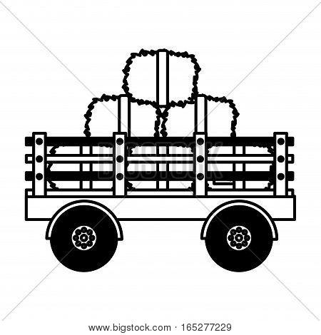 farm carriage isolated icon vector illustration design