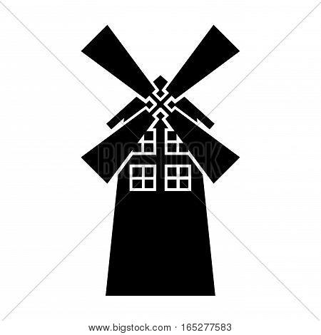 windmill farm isolated icon vector illustration design