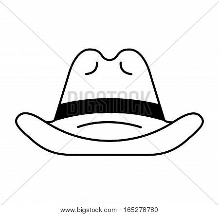 farmer hat isolated icon vector illustration design