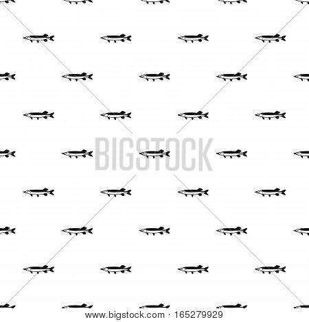 Pike fish pattern. Simple illustration of pike fish vector pattern for web design
