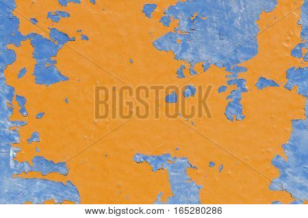 Abstract background patterns in orange and blue