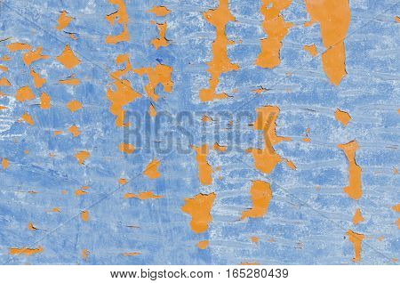 Blue and orange background. Abstract texture. Template