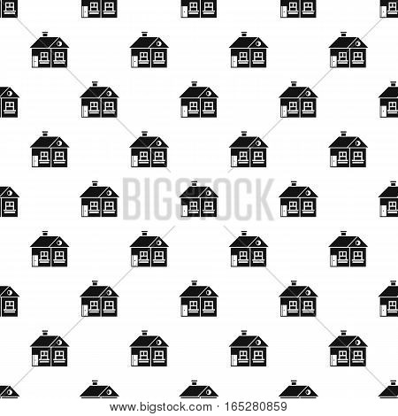 Large single-storey house pattern. Simple illustration of large single-storey house vector pattern for web design