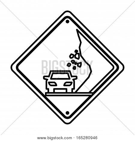 collapse traffic signal information icon vector illustration design