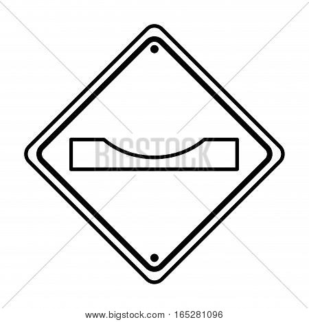 gap in track traffic signal information icon vector illustration design