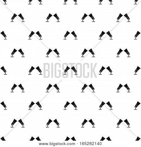 Spotlights pattern. Simple illustration of spotlights vector pattern for web design