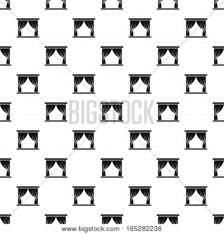 Stage curtains pattern. Simple illustration of stage curtains vector pattern for web design