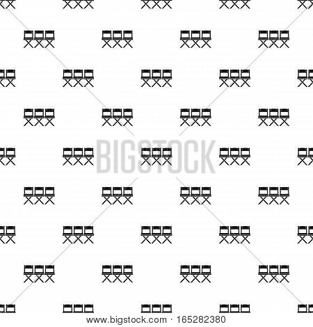 Cinema chair pattern. Simple illustration of cinema chair vector pattern for web design