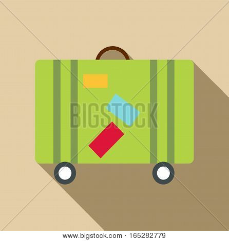 Suitcase icon. Flat illustration of suitcase vector icon for web