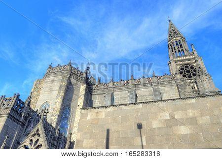 GUADALAJARA MEXICO - AUG 29 : Parroquia De Nuestra Senora Del Rosario church in Guadalajara Mexico on August 29 2016. The church was built in 1958