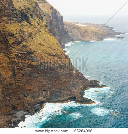 coast of Tenerife near Punto Teno Lighthouse Canary Islands Spain