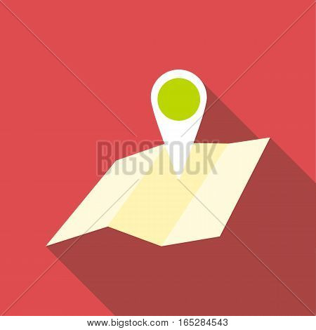 Travel map icon. Flat illustration of travel map vector icon for web