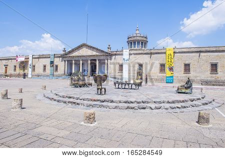 GUADALAJARA MEXICO - AUG 29 : The Sala De Los Magos in Guadalajara Mexico on August 29 2016. Guadalajara is the capital and largest city of the Mexican state of Jalisco
