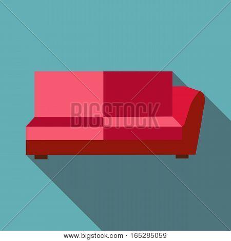Big sofa icon. Flat illustration of big sofa vector icon for web