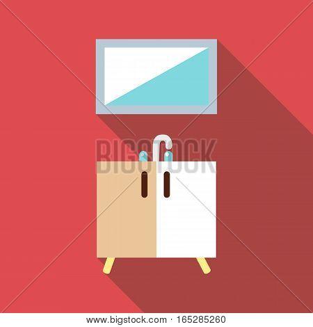Washbasin icon. Flat illustration of washbasin vector icon for web