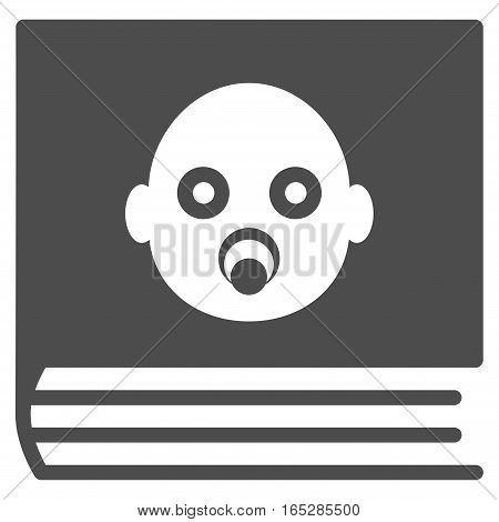 Baby Album vector icon. Flat gray symbol. Pictogram is isolated on a white background. Designed for web and software interfaces.