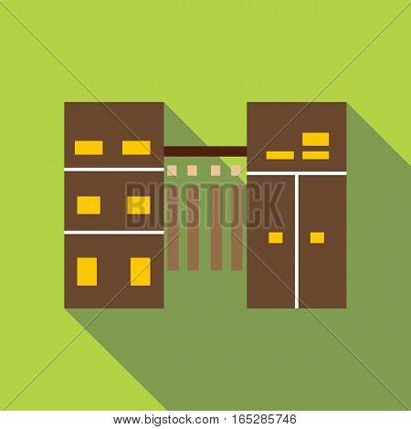 Hallway icon. Flat illustration of hallway vector icon for web
