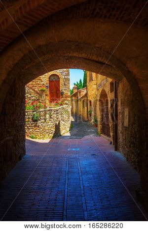 Archway In San Gimignano, Italy